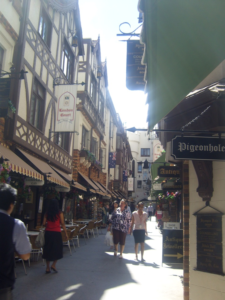 London Court, Perth City, Western Australia. I have been here. Cool little alley way like shops. Expensive place.