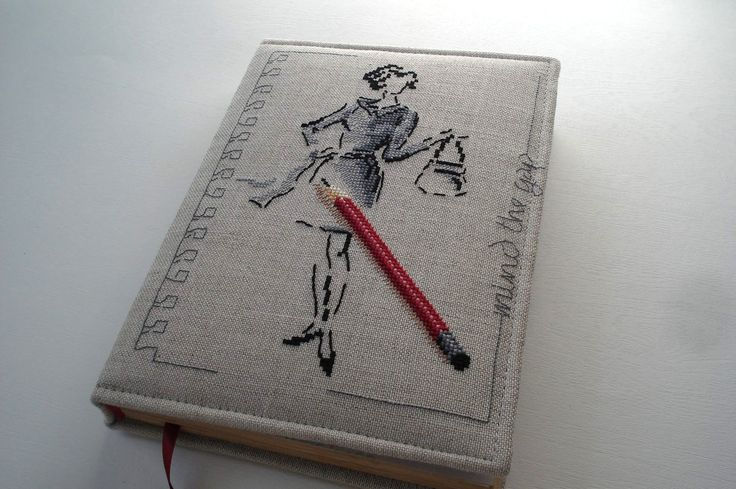 "Embroidery notebook ""Mind the gap"""