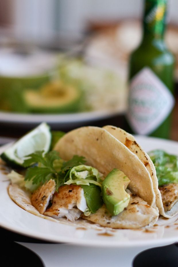 Grilled Green Fish Tacos from aggieskitchen.com