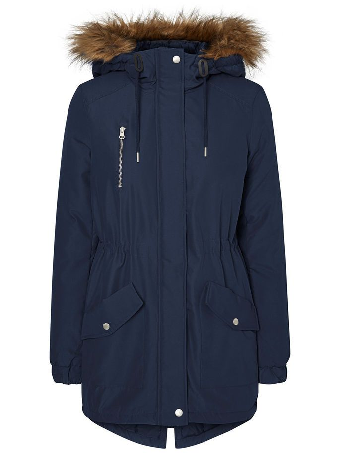 Blue parka from Noisy may. Be ready to cover up.