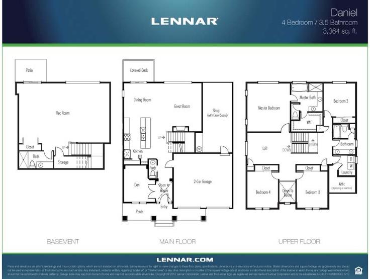 57 Best Images About Lennar Seattle Floorplans On Pinterest