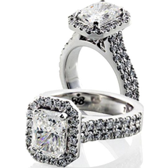 Emerald Diamond Halo | Bakalian : BB Designer Jewellers, Sydney