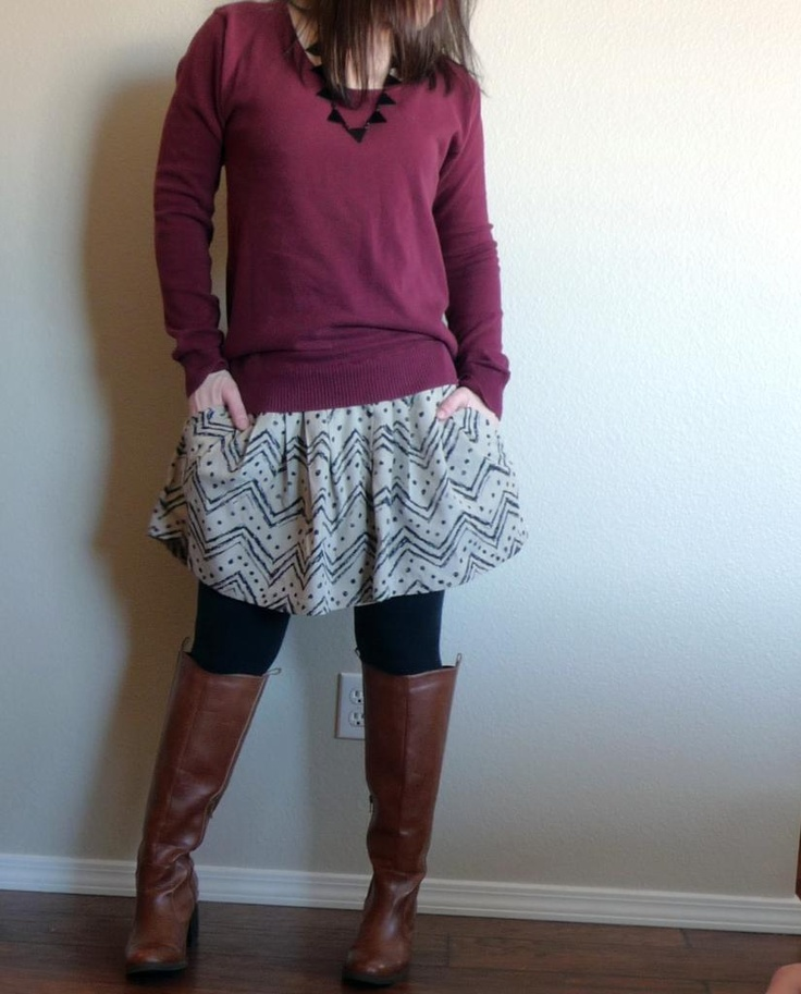 Domestic Bliss Squared: Ugly skirt refashion