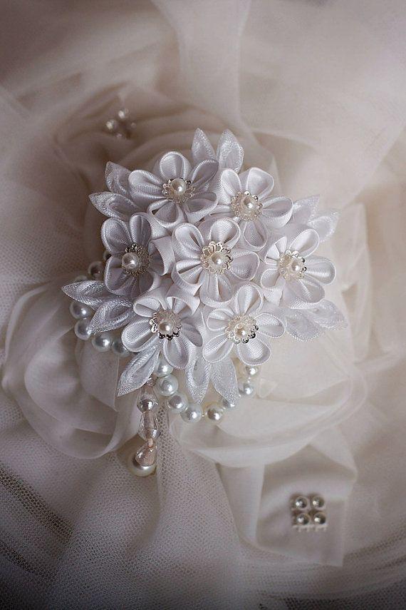 Love me - Baby bouquet Kanzashi hair clip/brooch