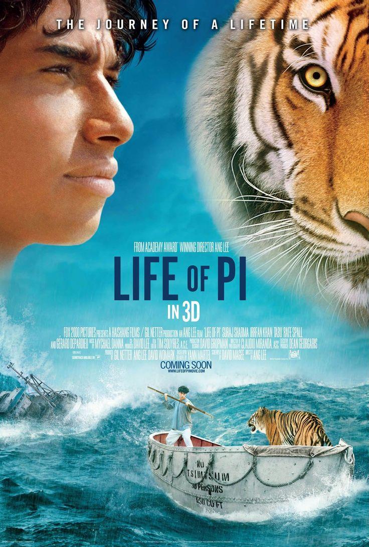 Movie Posters of great movies | Stars Irrfan Khan, Suraj Sharma, Tabu, Adil Hussain, Gerard ...