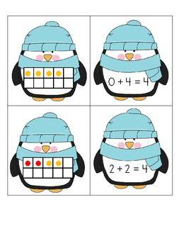 Freebie! Penguins Ten Frame Addition