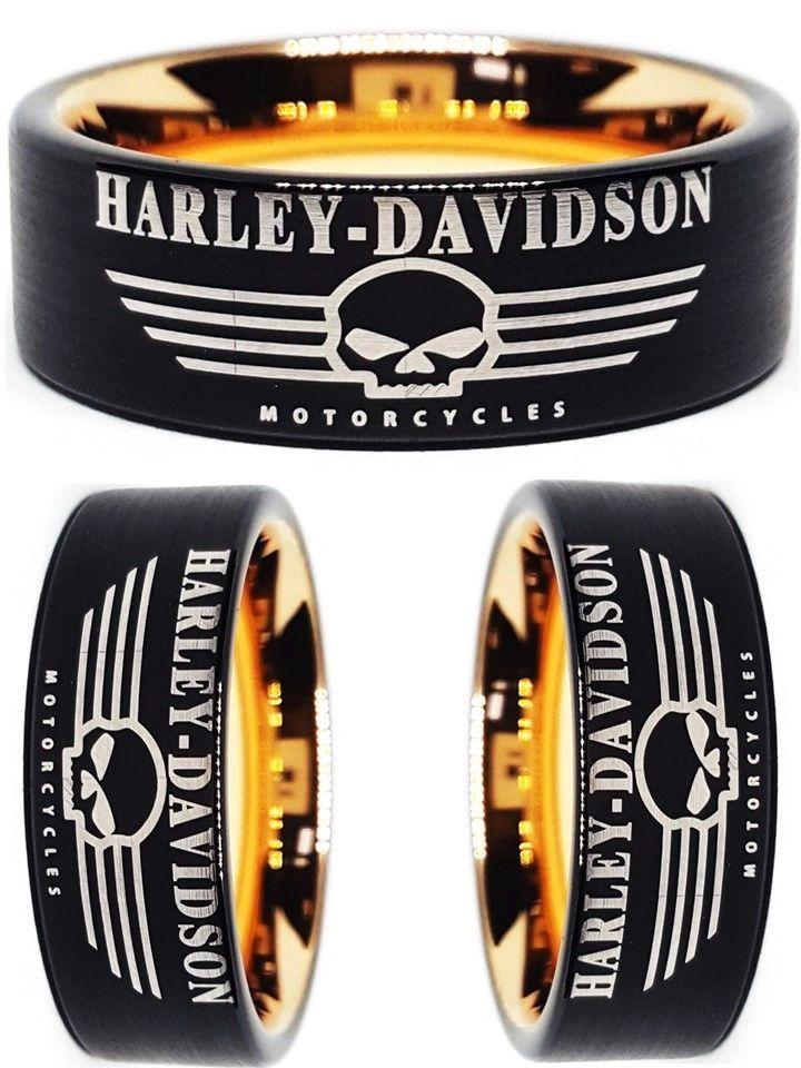 Harley Davidson Jewelry Rings : harley, davidson, jewelry, rings, Harley, Davidson, Black, Tungsten, #harleydavidson, Rings,, Jewelry,, Rings