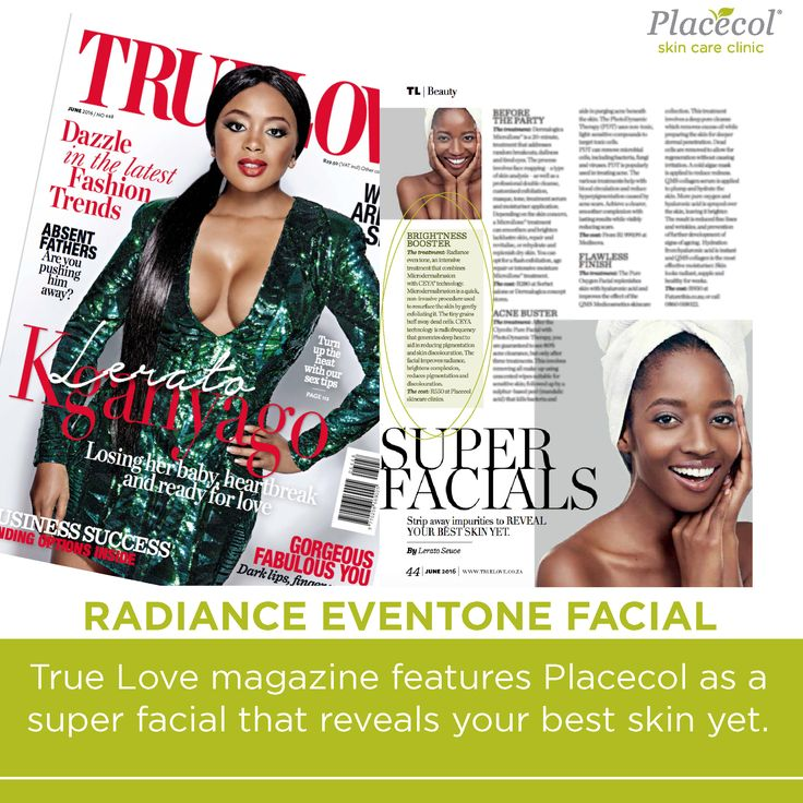 True Love Mag features Placecol as a super facial that reveals your best skin yet. ‪#‎FreshFromPress‬ ‪#‎FreshSkin‬