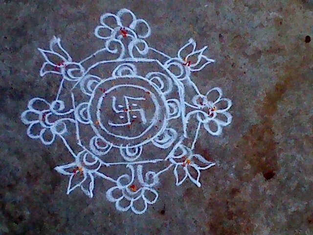 A floral design.