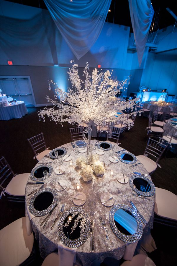 71 best images about winter wonderland quinceanera on for Winter themed wedding centerpieces
