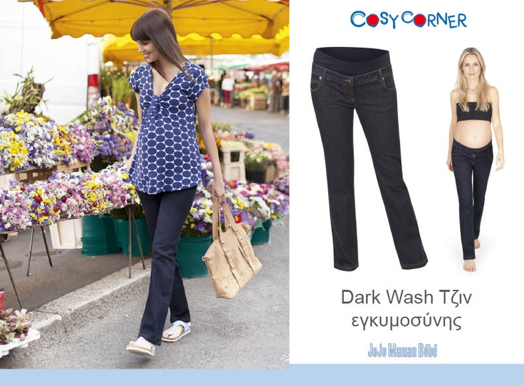 Dark Wash Τζιν Εγκυμοσύνης -   Το πρακτικό και άνετο best seller τζιν εγκυμοσύνης της JoJo Maman Bébé. Άψογο στυλ με αυθεντική denim λεπτομέρεια.   http://www.cosycorner.gr/el/category/ρούχα-εγκυμοσύνης-μητρότητας/dark-wash-τζιν-εγκυμοσύνης/