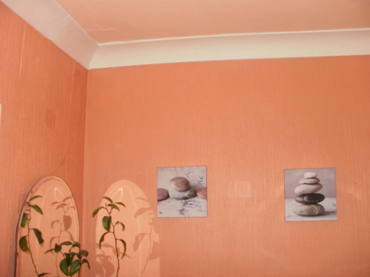 My bathroom tuscany walls pale peach ceiling and white for Peach tile bathroom ideas