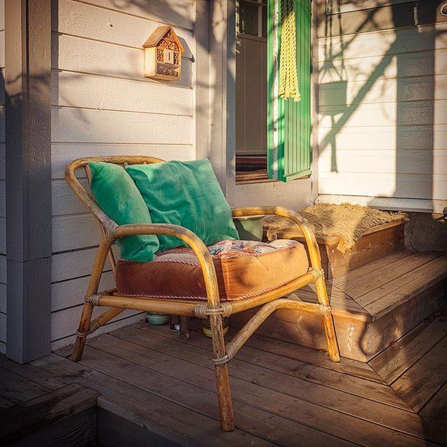 ☀️ Herlig med sol i dag. Sitte ute med en tekopp nå føles luksus. -Sunshine and a cup of tea this time of the year is luxury ☀️ . . . . .#høst #grønt #garden #fall #hagekolonien #kolonihave #kolonilott #allotmentlife #allotmentgarden #door #cottagegarden #interiør #hygge #kos #koselig #hyggelig #scandinavianinterior #scandinaviandesign