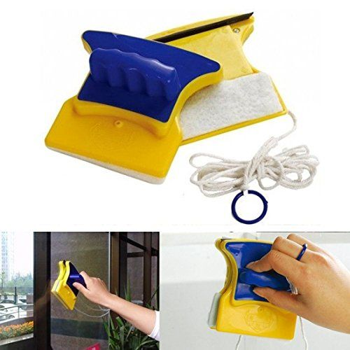 JJOnlineStore - Dual Sided Convenient Magnetic Car Window Cleaner Double Side Glass Wiper Glass Surface Cleaning Brush Home Office Restaurant #JJOnlineStore #Dual #Sided #Convenient #Magnetic #Window #Cleaner #Double #Side #Glass #Wiper #Surface #Cleaning #Brush #Home #Office #Restaurant