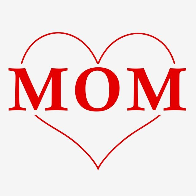 Simple Heart Mom Png Psd Happy Mother Day Quotes Happy Mother S Day Card I Love Mom