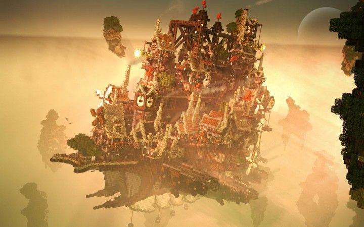 Minecraft Steampunk Floating City