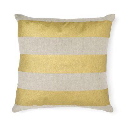 Wide Stripe Cushion in Gold 50cm
