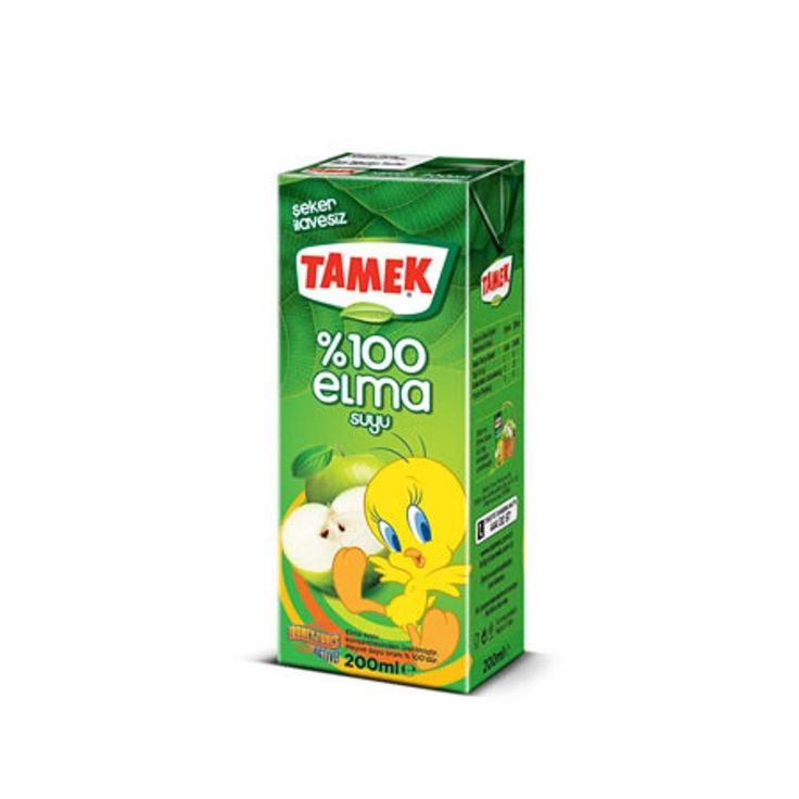 Tamek %100 Apple Juice 200ml - Elma Suyu