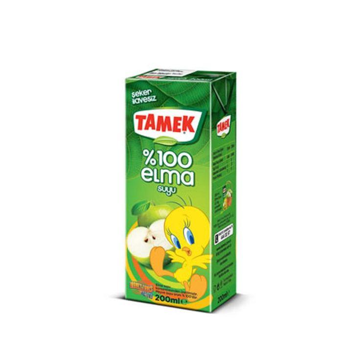 Tamek %100 Apple Juice 200ml - Elma Suyu
