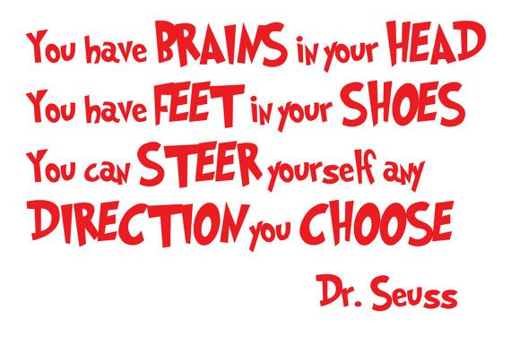 In Your Head Quotes: Dr. Seuss You Have Brains In Your Head, You Have Feet In