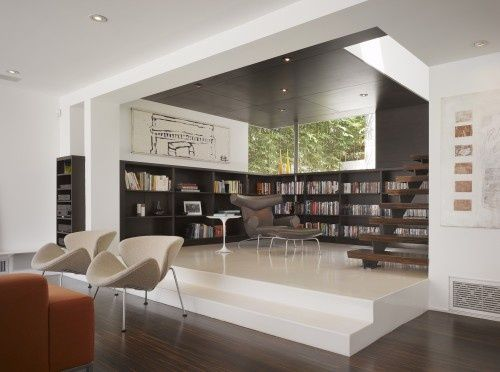 A library for Minimalist designs - plus 4 more ways to display books beautifully