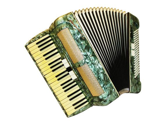 German Universal, 120 Bass, 7 Registers, Piano Accordion Instrument, 569