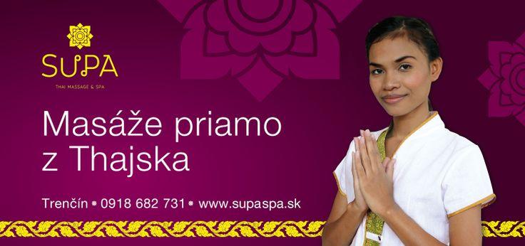 SUPA Thai massage & spa Trenčín, Slovakia Billboard
