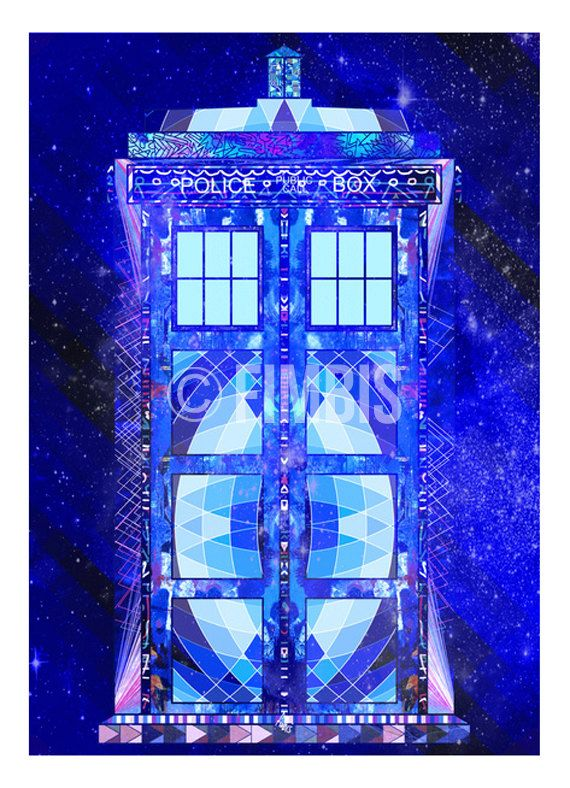 Doctor Who print The Tardis Dr who wall art by Fimbis on Etsy