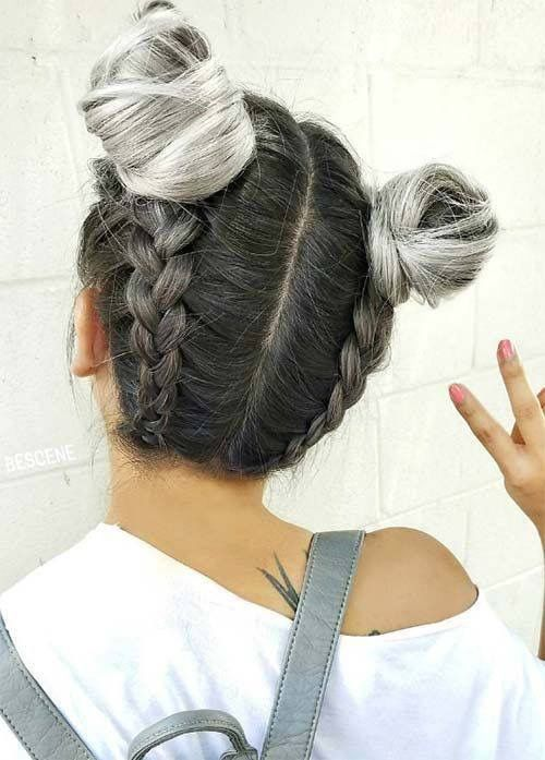 Too Cute!   'Cos there's always time for Space Buns...  #HairEnvy #SpaceBuns #HairInspo #Braids #ModelRecommends