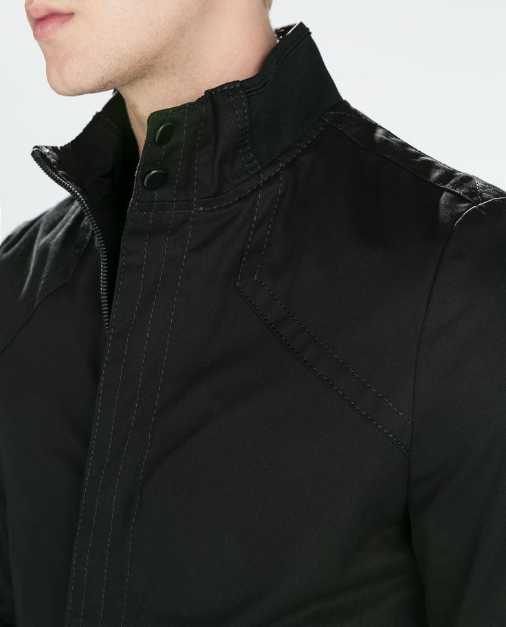 ZARA - MAN - JACKET WITH CONTRAST CUFFS AND HEMS