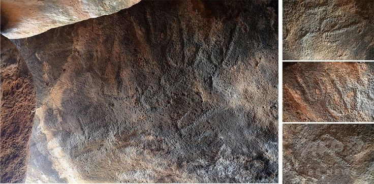 ドルメン内部に掘られていた模様。Gonen Sharon, Tel Hai College提供(撮影日不明、3月6日提供)。(c)Gonen Sharon, Tel Hai College ▼6Mar2017AFP|青銅器時代の「謎めいた」巨石建造物、イスラエルで発見 http://www.afpbb.com/articles/-/3120247 #Dolmen #דולמן #Galilee #הגליל #加利利 #الجليل