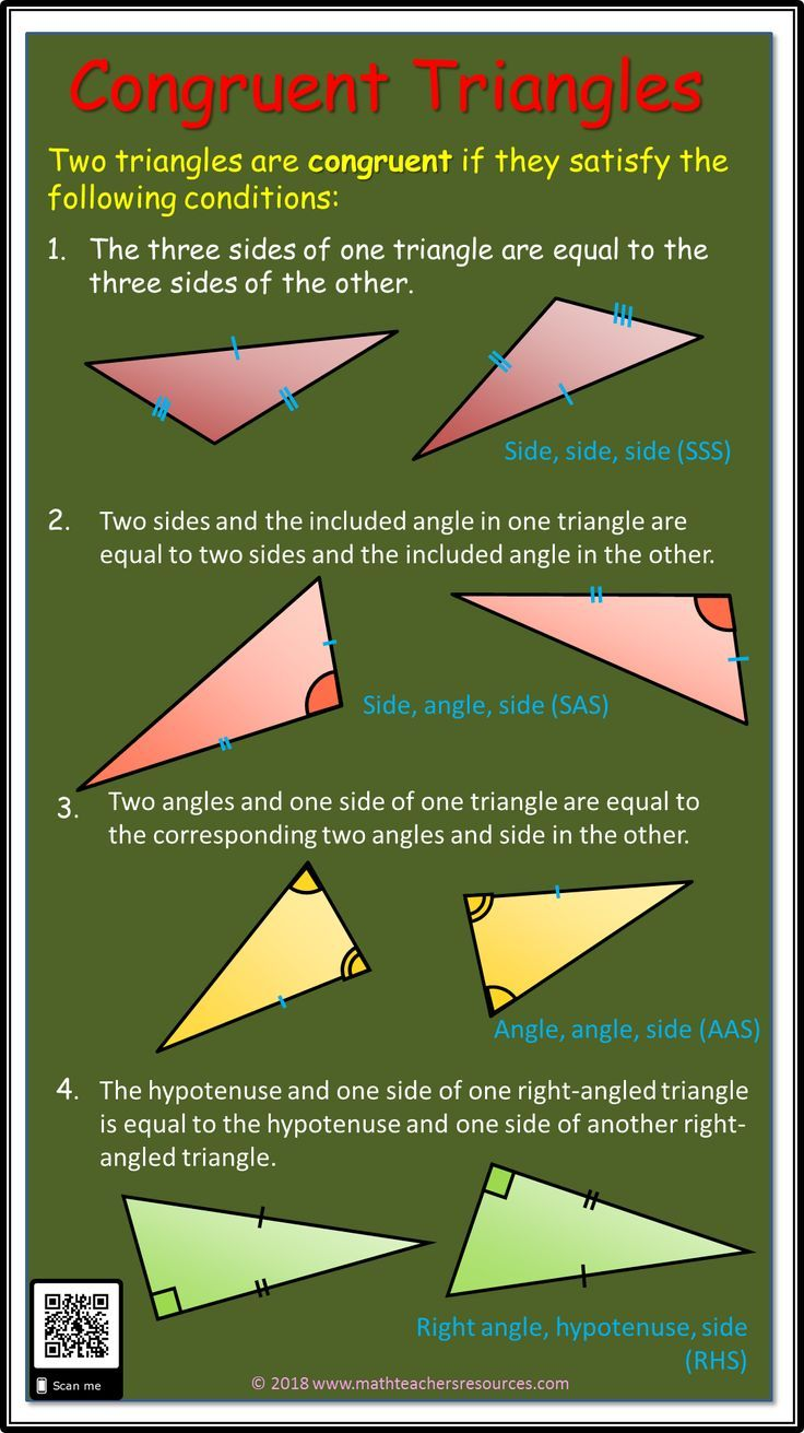 Congruent Triangle Rules Angle And Side Rules For Congruent Triangles If You Would Like More Math Infographics I Have A Math Infographic Math Math Methods
