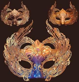 Masquerade ball - books with faces on the cover, but each face is wearing a mask.  Like passive program, but fancier