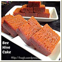 My Childhood Cake–Bee Hive Cake/Malaysian Honey Comb Cake or Kueh Sarang Semut (蜂巢蛋糕) | GUAI SHU SHU