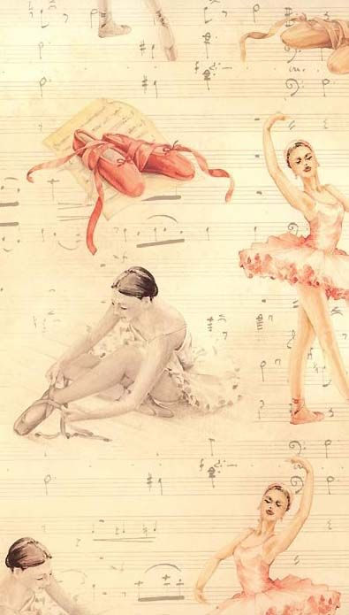 Gorgeous ballet print crafting paper from Italy...:)
