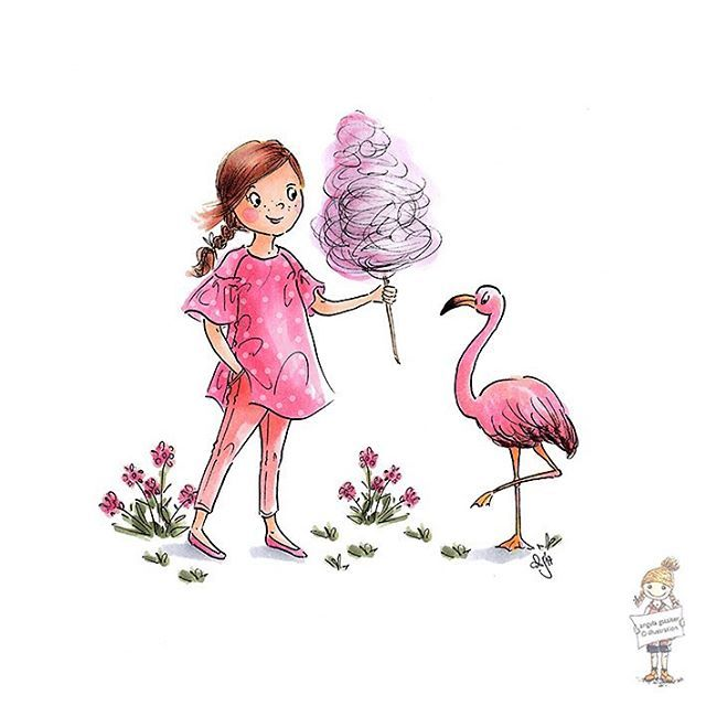 Today a little doodle for this weeks #colour_collective Baker-Miller Pink - at least some pretty colours on a (here in the south of Germany) grey and rainy day. But, yeah, it's Friday 🌸 Happy Weekend to you all 💕