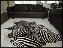 Peau de zebre sur cuir de patagonie tapis en zebre et tapis imprim tigre au meilleur prix - Peau de zebre ...