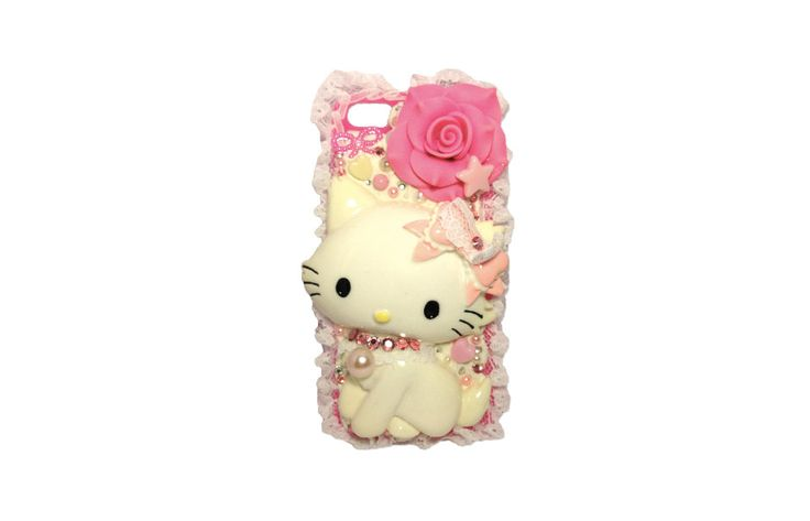 """Charmmy Kitty """"The Sweet Princess"""" case cover for iPhone 5 or iPhone5s (Ready to be shipped) by PepperAndSoda on Etsy"""
