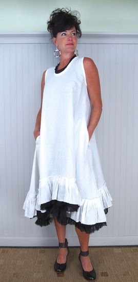 Tina Givens Lorraine Tank Dress. the black ruffle is part of the dress.K!