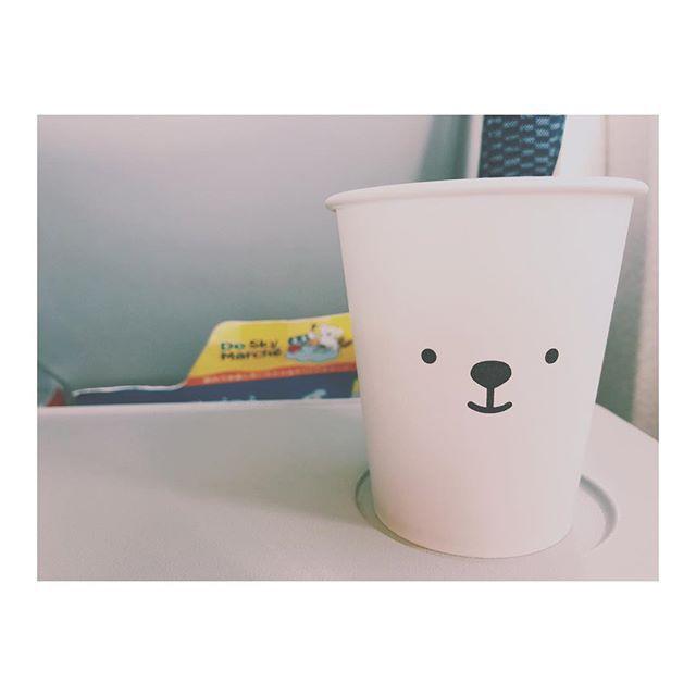 Airdoの紙コップ可愛かったな〜じゃがバタースープまた飲みたいっ #airplane #ana #airdo #papercup #bear #cute #soup