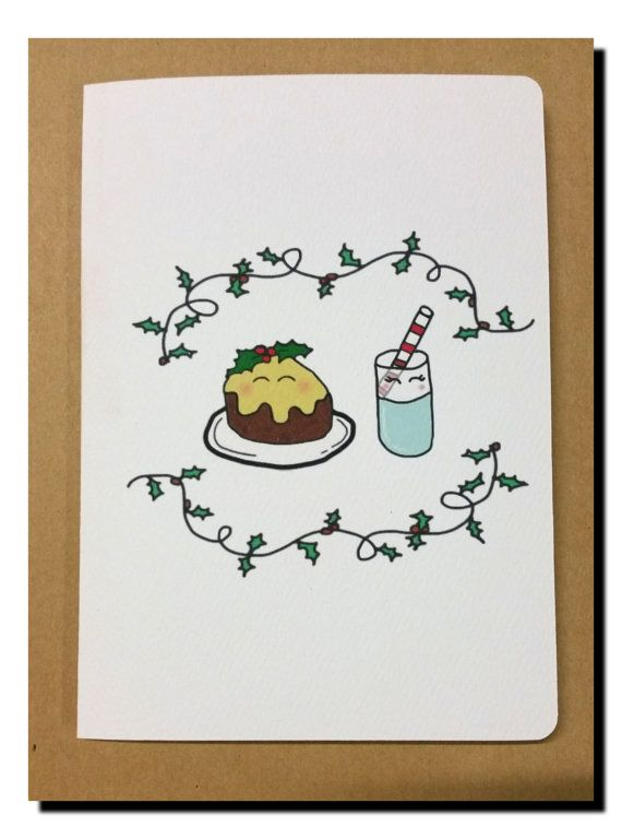 Hey, I found this really awesome Etsy listing at https://www.etsy.com/au/listing/250367832/pudding-and-milk-christmas-card