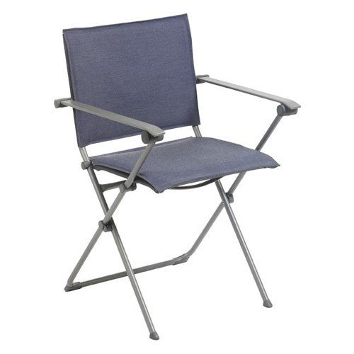 Outdoor Lafuma Anytime Privilege Batyline Folding Lawn Chair with Arms - LFM2642-7711