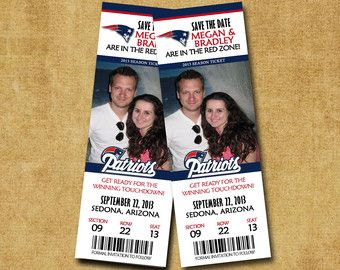 Baseball or Football Save the Date Tickets FREE by ericksondesign