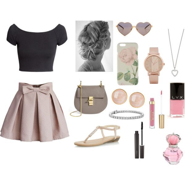 Cream girly outfit