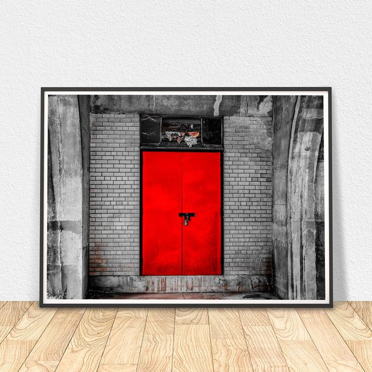Red Rustic Door Print, Urban Industrial Photography, Door Photography, Red  Wall Art, Toronto Old Poster, Vintage Wall Decor,digital Download