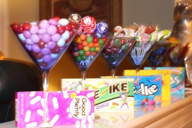 Decorating Ideas > Candy Party Theme, Candy In Martini Glasses  Party Theme  ~ 095229_Birthday Party Ideas Katy Tx