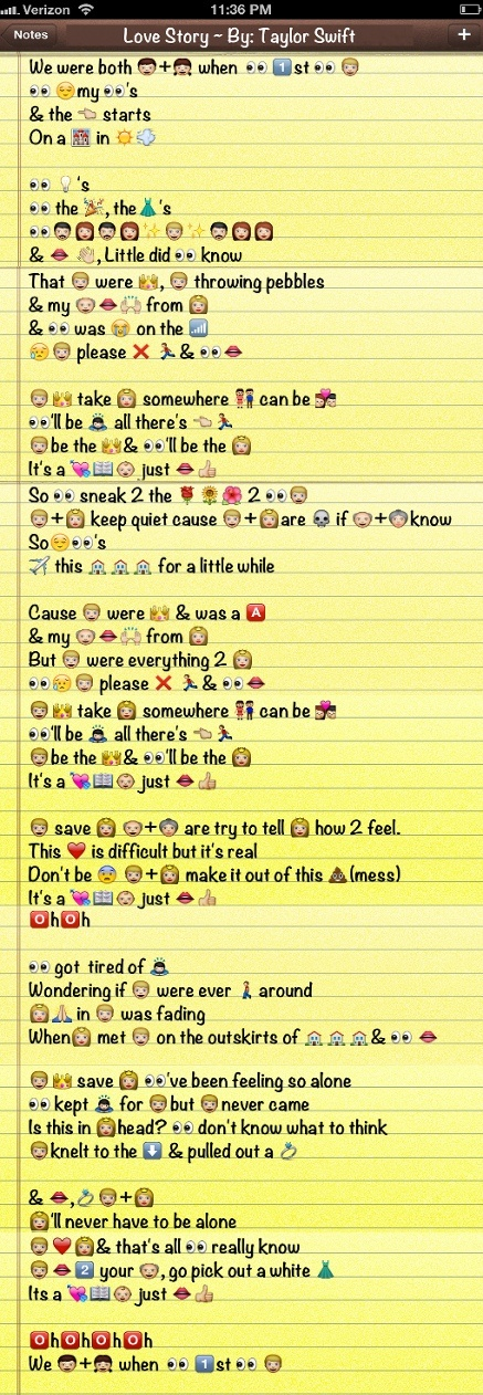Taylor Swift Song + Emoji ='s should be studying but ...