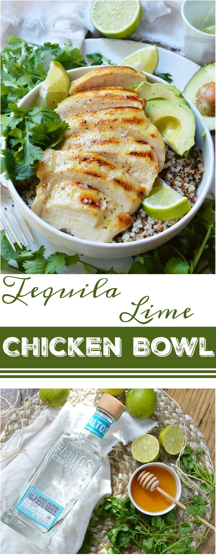 Perfect For Those New Year S Resolutions This Tequila Lime Chicken Quinoa Bowl Is Healthy