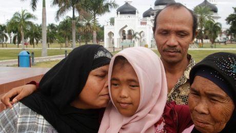 Indonesian girl feared killed in 2004 tsunami found alive