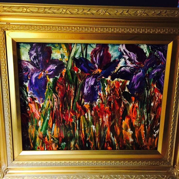 #irises #inspiredbynature #oils #painting